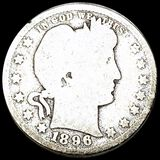 1896-O Barber Silver Quarter NICELY CIRCULATED