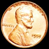 1955/55 DDO Lincoln Wheat Penny UNCIRCULATED RED