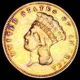 1856-S $3 Gold Piece NEARLY UNCIRCULATED