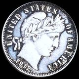 1912-D Barber Silver Dime AU+