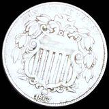 1867 Shield Nickel LIGHTLY CIRCULATED