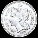 1868 Three Cent Nickel CLOSELY UNCIRCULATED