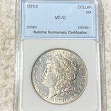 1878-S Morgan Silver Dollar NNC - MS62