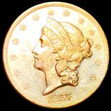 1857 $20 Gold Double Eagle UNCIRCULATED