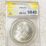1882-O Morgan Silver Dollar ANACS - MS63