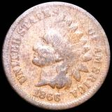 1866 Indian Head Penny NICELY CIRCULATED