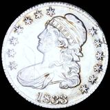 1833 Capped Bust Half Dollar LIGHTLY CIRCULATED