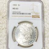 1882 Morgan Silver Dollar NGC - MS63