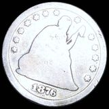 1876-CC Seated Liberty Quarter NICELY CIRCULATED