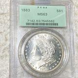 1883 Morgan Silver Dollar PCGS - MS63