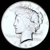 1924-S Silver Peace Dollar NEARLY UNCIRCULATED