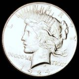1924-S Silver Peace Dollar CLOSELY UNCIRCULATED