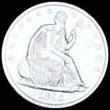 1866 Seated Half Dollar CLOSELY UNCIRCULATED