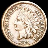 1860 Indian Head Penny LIGHTLY CIRCULATED