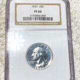 1937 Washington Silver Quarter NGC - PF66
