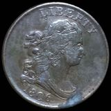 1806 Draped Bust Half Cent LIGHTLY CIRCULATED