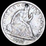 1865-S Seated Half Dollar LIGHTLY CIRCULATED