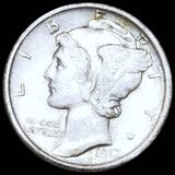 1917 Mercury Silver Dime CLOSELY UNCIRCULATED