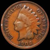 1908-S Indian Head Penny NICELY CIRCULATED