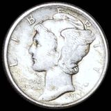 1917 Mercury Silver Dime NEARLY UNCIRCULATED
