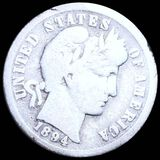 1894-O Barber Silver Dime NICELY CIRCULATED