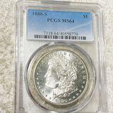 1880-S Morgan Silver Dollar PCGS - MS64