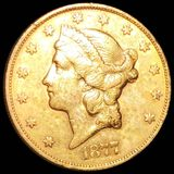 1877-S $20 Gold Double Eagle CLOSELY UNC