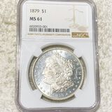 1879 Morgan Silver Dollar NGC - MS61