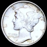 1917-S Mercury Silver Dime CLOSELY UNCIRCULATED