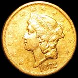 1872-S $20 Gold Double Eagle NEARLY UNCIRCULATED
