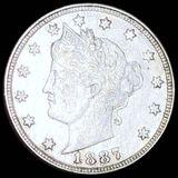 1887 Liberty Victory Nickel LIGHTLY CIRCULATED