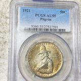 1921 Pilgrim Half Dollar PCGS - AU55