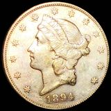 1894-S $20 Gold Double Eagle UNCIRCULATED
