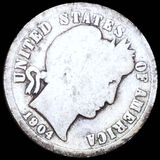 1904-S Barber Silver Dime NICELY CIRCULATED