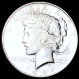 1924-D Silver Peace Dollar NEARLY UNCIRCULATED