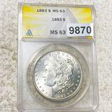 1883 Morgan Silver Dollar ANACS - MS63