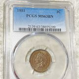 1881 Indian Head Penny PCGS - MS 63 BN
