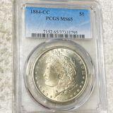 1884-CC Morgan Silver Dollar PCGS - MS65