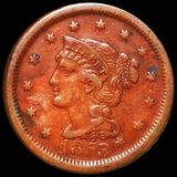 1853 Braided Hair Large Cent ABOUT UNCIRCULATED
