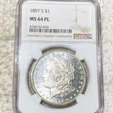 1897-S Morgan Silver Dollar NGC - MS 64 PL