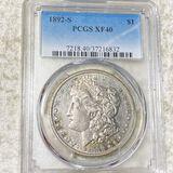 1892-S Morgan Silver Dollar PCGS - XF40