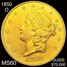 1850-O $20 Gold Double Eagle UNCIRCULATED