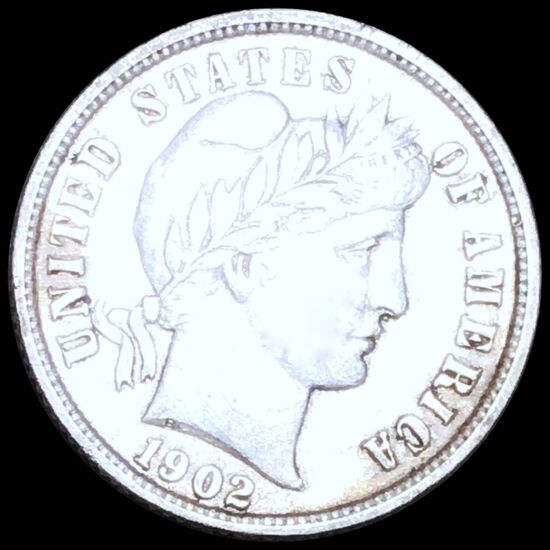 1902 Barber Silver Dime CLOSELY UNC