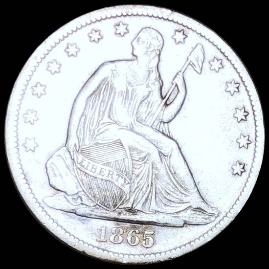 1865-S Seated Half Dollar CLOSELY UNC