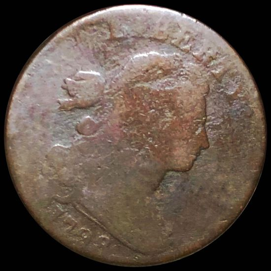 1798 Draped Bust Penny NICELY CIRCULATED