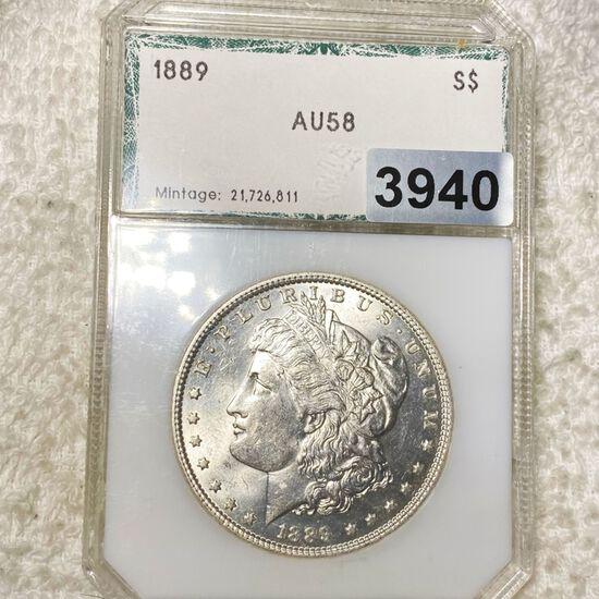 1889 Morgan Silver Dollar PCI - AU58