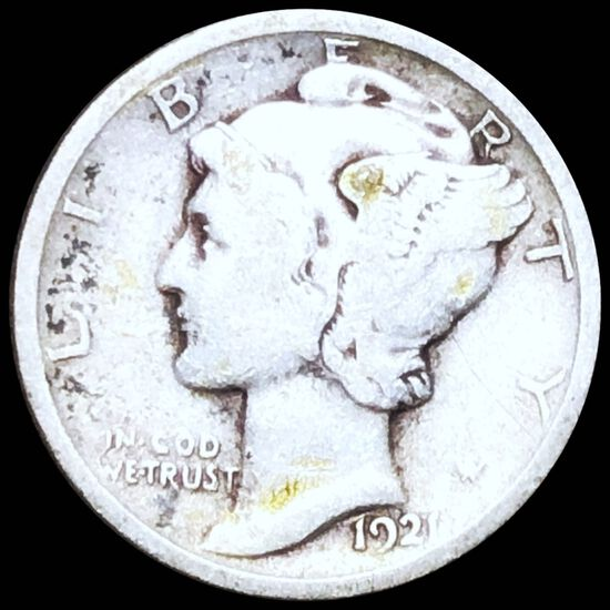 1921 Mercury Silver Dime NICELY CIRCULATED