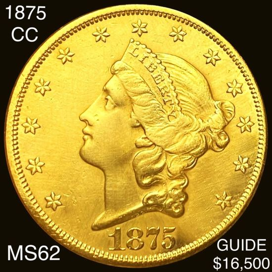 1875-CC $20 Gold Double Eagle UNCIRCULATED