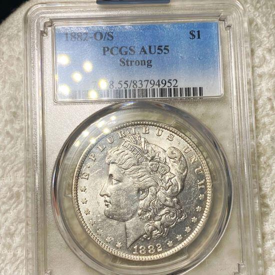 1887-O/S Morgan Silver Dollar PCGS - AU55
