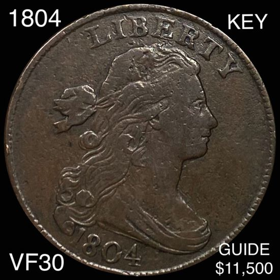 1804 Draped Bust Large Cent LIGHTLY CIRCULATED